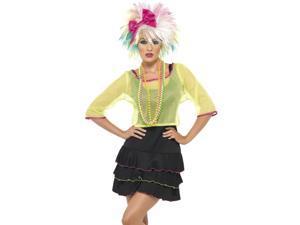 Adult Retro Neon 80s Pop Rock Star Sexy Halloween Costume