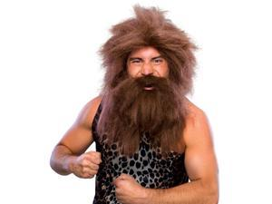 Caveman Beard/Wig Costume Accessory