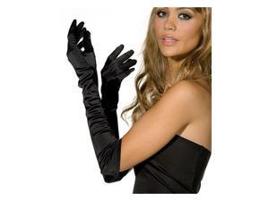 Adult Flapper Costume Black Satin Elbow Opera Gloves
