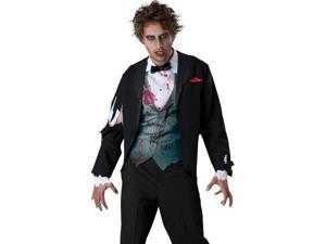 Zombie Undead Groom Scary Adult Halloween Costume + 5% Amazon.com Credit