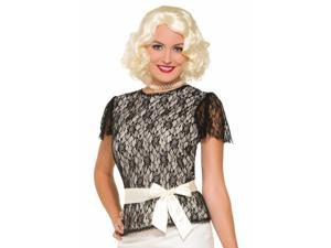 Sexy Womens 20s Flapper Halloween Costume Lace Blouse