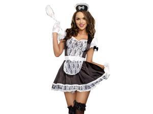 Womens Sexy French Maid Halloween Costume