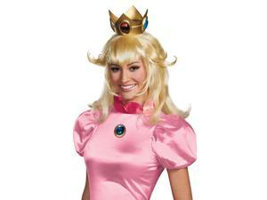 Adult Princess Peach Super Mario Halloween Costume Wig