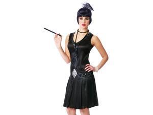 Sexy 1920s Black Flapper Silent Movie Star Halloween Costume