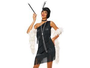 Sexy 20s Flapper Black Fringe Dress Halloween Costume