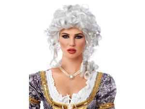 White Curly Colonial Marie Antoinette Costume Adult Wig