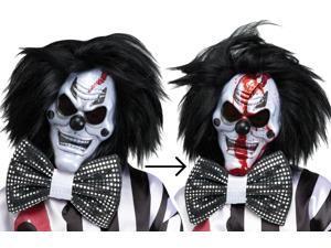 Scary Bleeding Evil Clown Gross Halloween Costume Mask