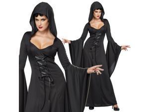 Sexy Womens Black Medieval Vampire Halloween Costume