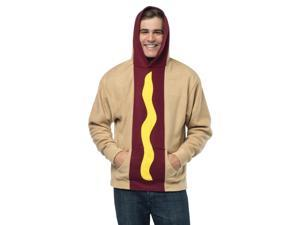 Funny Adult Hot Dog Hood Shirt Halloween Costume Hoodie