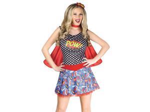 Sexy Comic Book Retro Pop Art Superhero Halloween Costume