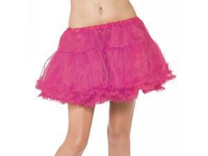 Womens Sexy Pink Short Crinoline Ruffle Petticoat Skirt