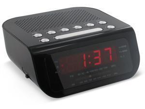 Magnasonic MAG-MM172K Ultra Compact Clock Radio Dual Alarm Auto Time Set/Restore Battery Backup
