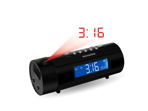 Magnasonic Projection Dual Alarm Clock Radio Auto Time Set Restore Motion Activated Snooze