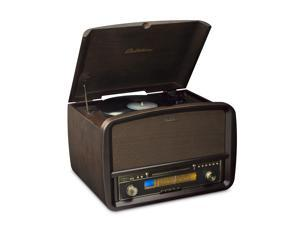 Electrohome Signature Vinyl Record Player Classic Turntable Hi-Fi Stereo System with AM/FM, CD & AUX for Smartphones