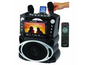 "Karaoke USA GF829 Portable DVD /CD+G/ MP3+G Karaoke System with 7"" Screen & Recording"
