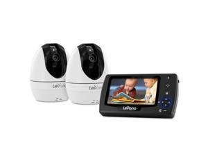 "Levana Ovia 4.3"" PTZ Digital Baby Video Monitor with Photo and Video SD Recording, 2 Night Vision Cameras, Talk to Baby"