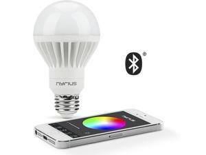 Nyrius Wireless Smart LED Multicolor Light Bulb for Smartphone, iOS & Android App Controls On/Off, Scheduling