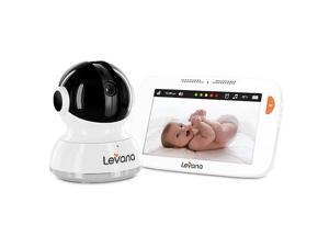 """Levana® Willow™ 5"""" Touchscreen High Definition Pan/Tilt/Zoom Video Baby Monitor with Feeding and Temperature Alerts"""
