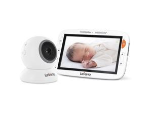 "Levana® Alexa™ 5"" LCD Video Baby Monitor with Temperature Monitoring, Feeding/Nap Timer, Two Way Intercom"