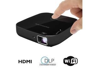 "Magnasonic Wi-Fi Mini Video Projector, HDMI, Wireless for Android, DLP, 100 Lumens, 80"" display for Smartphones, Tablets"