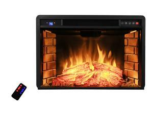 "AKDY AK-NEF05-28R 28"" Black Electric Firebox Fireplace Heater Insert W/Remote"