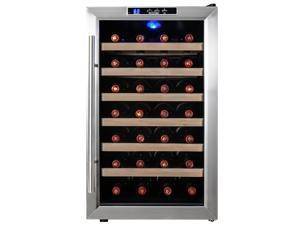 AKDY® 28 Bottles Stainless Steel Freestanding Temperature Control Chiller Wine Cooler Cellar