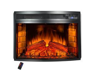 AKDY Freestanding LED Backlit Temperature Control w/ Remote 6 Setting Electric Fireplace Stove