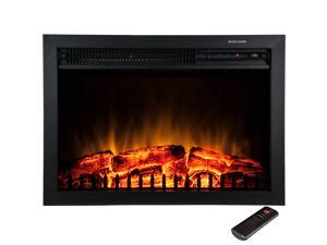 "AKDY 23"" Electric Fireplace Heat Tempered Glass Freestanding Logs Insert Adjustable 5200 BTU 1500W Heater"