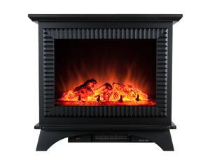 "AKDY 23"" Electric Fireplace Heat Tempered Glass Freestanding Logs Insert Adjustable 5200 BTU 1500W Heater 2 Setting"
