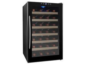 AKDY 28 Bottle Chiller Wine Cooler Cellar Refrigerator Thermoelectric Freestanding Temperature Control