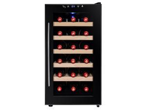AKDY 18 Bottle Wine Cooler Chiller Refrigerator Fridge Thermoelectric Wood Shelf Single Zone Freestanding