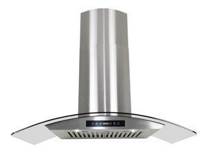 "AKDY 30"" AG-ZH703C Euro Stainless Steel Wall Mount Range Hood Duct/Pipe"