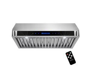 "AKDY 30"" Stainless Steel Under Cabinet Range Hood Touch Panel Kitchen Cooking Fan with Remote"