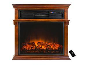 AKDY 29 in. Freestanding Electric Fireplace Mantel Heater with Tempered Glass and Remote Control