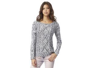 Aeropostale Womens Marled Cable Pullover Sweater 413 XL