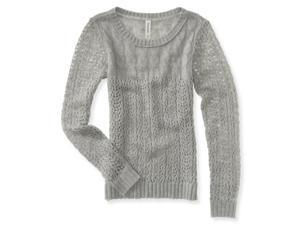 Aeropostale Womens Sheer Cable Knit Sweater 052 M