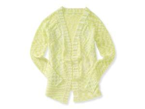 Aeropostale Womens Cable knit Cardigan Sweater 312 L