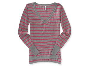 Aeropostale Womens Stripe Knit Sweater 676 S