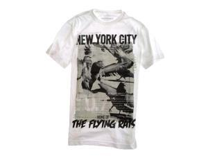 Ecko Unltd. Mens Fly Rats Fly Graphic T-Shirt blchwhite S