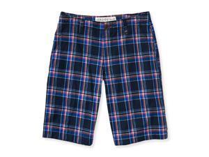 Aeropostale Mens Plaid Flat-Front Casual Bermuda Shorts 437 31