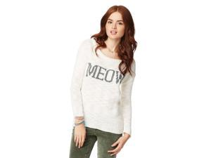 Aeropostale Womens Meow Text Knit Sweater 047 L
