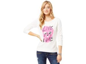 Aeropostale Womens Live For Love Sweatshirt 047 L