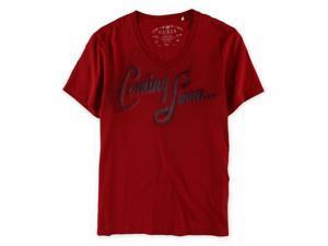 GUESS Mens Coming Soon Script Graphic T-Shirt chilipepper L
