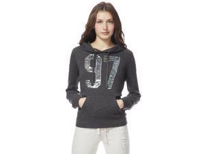 Aeropostale Womens Sequined 97 Hooded Hoodie Sweatshirt 017 XL
