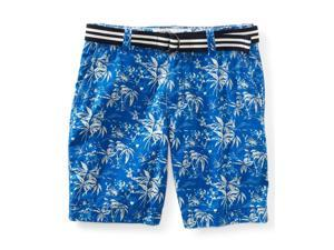 Aeropostale Mens Belted Tropical Pattern Casual Chino Shorts 433 34