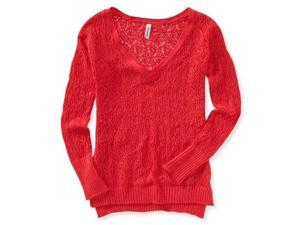 Aeropostale Womens Open V Neck Knit Sweater 874 XL