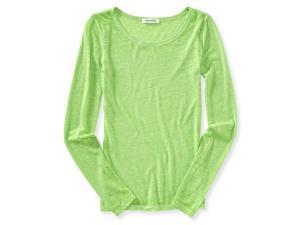 Aeropostale Womens Ultra Light Textured Basic T-Shirt 314 L