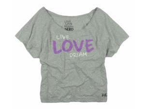 Aeropostale Womens Live Love Dream Graphic T-Shirt lththr XL