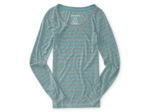 Aeropostale Womens Striped Ls Graphic T-Shirt 164 L