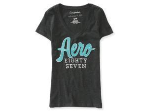 Aeropostale Womens Metallic Logo Embellished T-Shirt 017 M